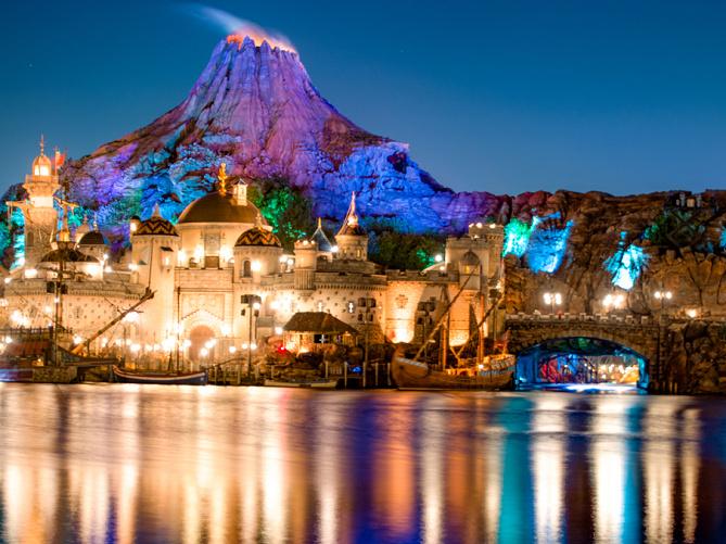 「ディズニーシー 夜景」の画像検索結果