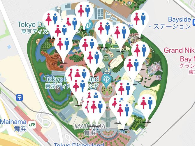 【ディズニーランドのトイレ】空いているおすすめトイレ&レストラン内にあるトイレ一覧!