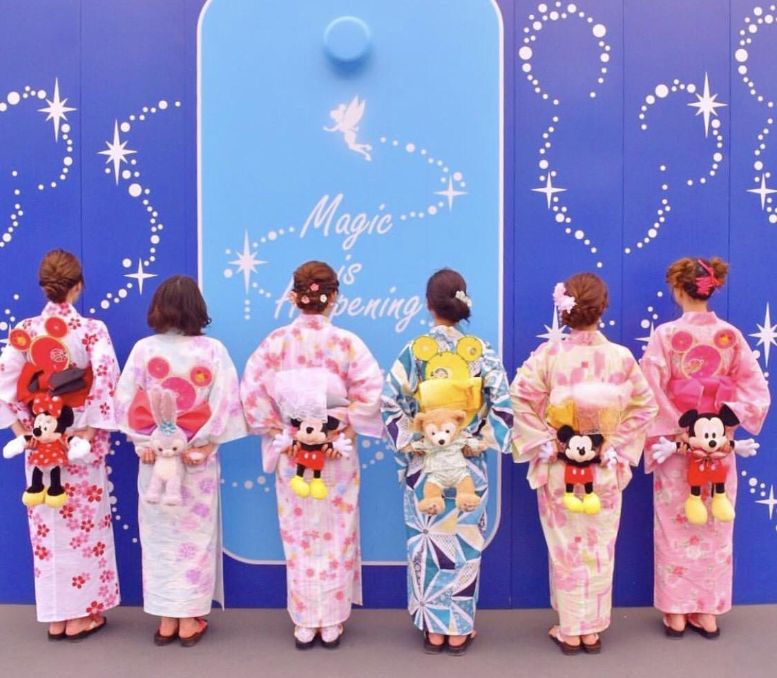 【2019】浴衣ディズニーコーデ&アレンジ12選!素敵な着こなしを見つけよう!ディズニーグッズアレンジも!