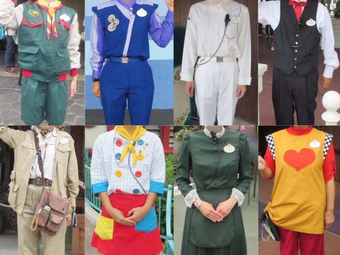 【ランド編】ディズニーキャストのコスチューム30種類!制服を写真で比較!ハニーハントにはなんとアレが7種類?!