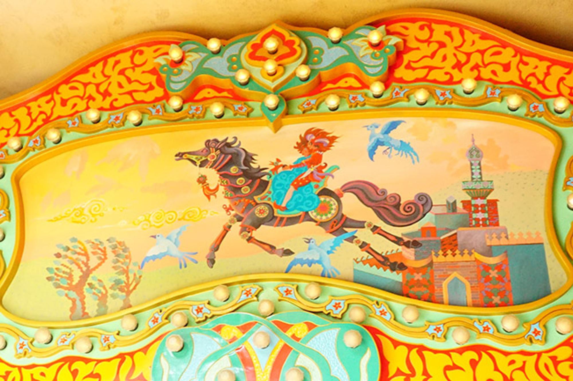 物語に登場する馬に乗ることもできる!