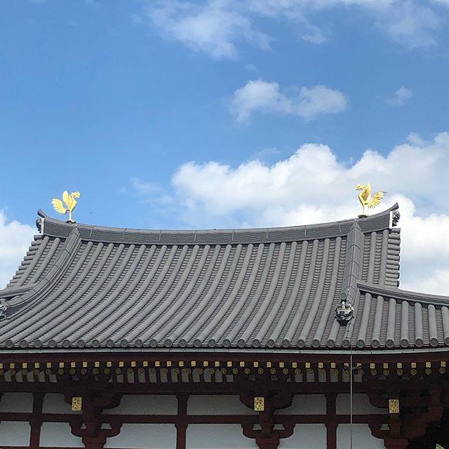平等院の鳳凰。実は2代目で、初代の鳳凰は鳳翔館で展示されています